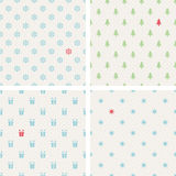 Set of seamless christmas patterns Royalty Free Stock Photography