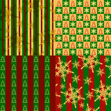 Set of seamless christmas textures Stock Images