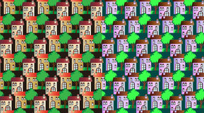 Set of seamless city pattern Royalty Free Stock Images