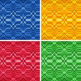 Set of Seamless Color Abstract Retro Vector Stock Images