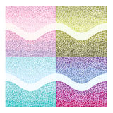 Set of seamless color mosaic backgrounds. Set of vector gradient backgrounds of mosaic Royalty Free Stock Image
