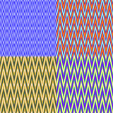 Set of seamless color patterns Stock Photography