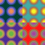 Set of seamless color patterns Royalty Free Stock Photography