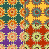 Set of seamless color patterns Stock Photo