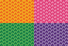 Set of seamless colorful vector scales patterns Stock Image