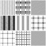 Set of seamless cotton textile patterns. Stock Photography