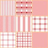 Set of seamless cotton textile patterns. stock illustration