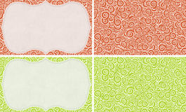 Set of seamless curly ornamets and frames Royalty Free Stock Photos