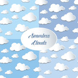 Set of seamless cutout clouds Stock Photography