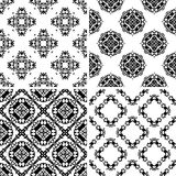 Set seamless damask pattern Royalty Free Stock Photography