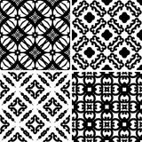 Set seamless damask pattern Stock Photography