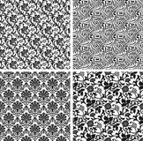 Set of seamless damask patterns Stock Photo
