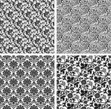 Set of seamless damask patterns. Set of seamless vector damask patterns Stock Photo
