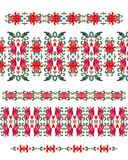 Set of seamless decorative border patterns Stock Photos
