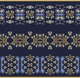 Set of seamless decorative border patterns Royalty Free Stock Images