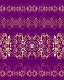Set of seamless decorative border patterns Royalty Free Stock Photo