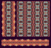 Set of seamless decorative border patterns Royalty Free Stock Photography