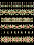 Set of seamless decorative floral patterns Stock Photography