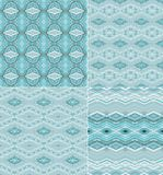 Set of seamless decorative geometric patterns Royalty Free Stock Image