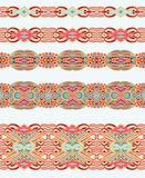 Set of seamless decorative laced patterns Royalty Free Stock Image