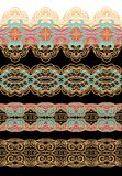 Set of seamless decorative laced patterns Royalty Free Stock Images
