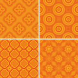 Set seamless decorative pattern Royalty Free Stock Photos