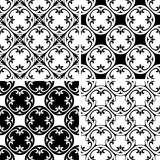 Set seamless decorative pattern Royalty Free Stock Photo