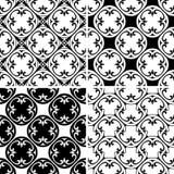 Set seamless decorative pattern Royalty Free Stock Photo