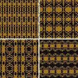 Set seamless decorative pattern Royalty Free Stock Photography