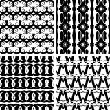 Set seamless decorative pattern Stock Photo
