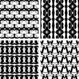 Set seamless decorative pattern Stock Photo