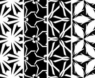Set seamless decorative pattern Royalty Free Stock Images
