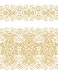 Set of seamless decorative patterns and ribbons Royalty Free Stock Image