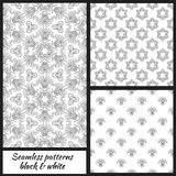Set of seamless decorative patterns. Vector illustration Royalty Free Stock Photography
