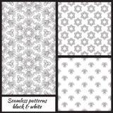 Set of seamless decorative patterns. Vector illustration vector illustration
