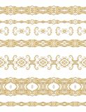 Set of seamless decorative ribbons Royalty Free Stock Image