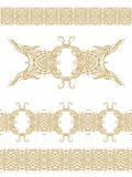 Set of seamless decorative ribbons Stock Images