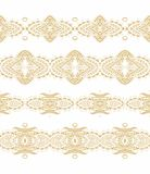 Set of seamless decorative ribbons Royalty Free Stock Images