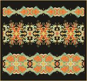 Set of seamless decorative ribbons Royalty Free Stock Photos