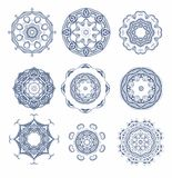 Set of seamless decorative rosettes Stock Images