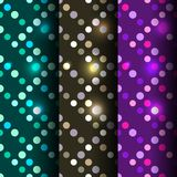 Set of 3 seamless disco Stock Images