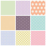 Set of seamless dots patterns Royalty Free Stock Images