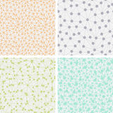 Set of Seamless Dotted Backgrounds Stock Images