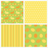 Set of seamless Easter textures. Royalty Free Stock Photo