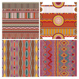 Set of seamless ethnic background Stock Images