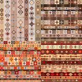 Set of seamless ethnic background Royalty Free Stock Image