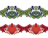 Set of seamless ethnic borders. Indian style Royalty Free Stock Image