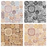 Set of seamless ethnic ornaments Stock Photography