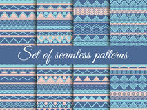 Set seamless ethnic pattern, tribal texture Royalty Free Stock Photography