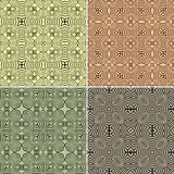 Set of seamless ethnic pattern Stock Image